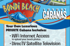 Advertising Design for Cabana Rentals