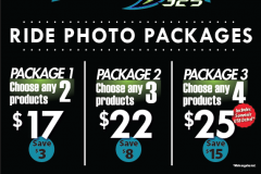 Ride Photo Packages Menu for Fury325